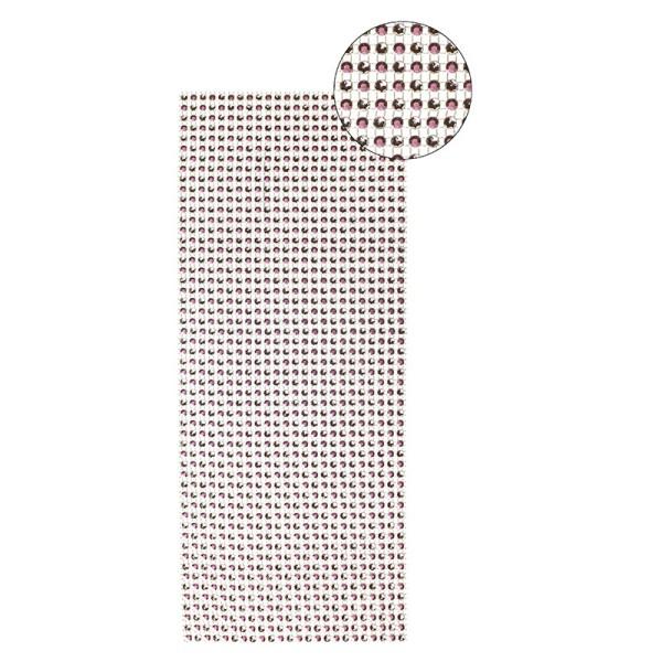 Schmuck-Netz, selbstklebend, 12 x 30 cm, Bi-Color, rosa/silber