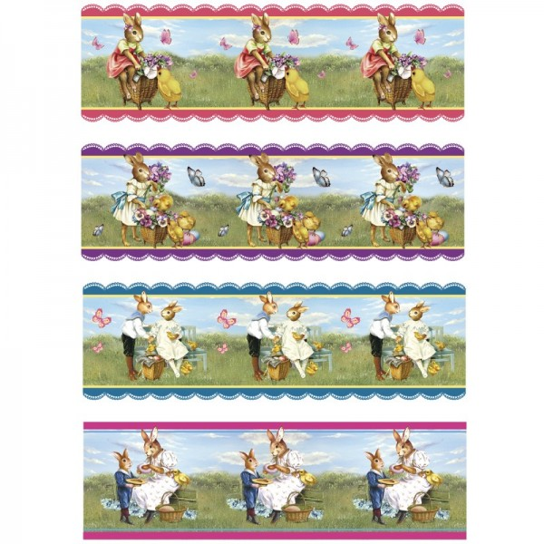 "Ei-Zauberfolien ""Osterhasen"", Schrumpffolien, 4 Designs, 12er Set"