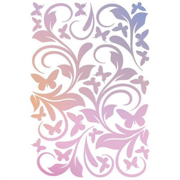 Folien-Bügeltransfer, Ornamente & Schmetterlinge, DIN A4, rosé
