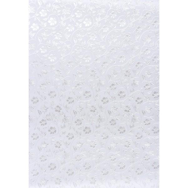 Transparentpapiere, Nova Noblesse 9, mit Top-Prägung & Perlmuttlack, DIN A4, 5 Bogen, weiß