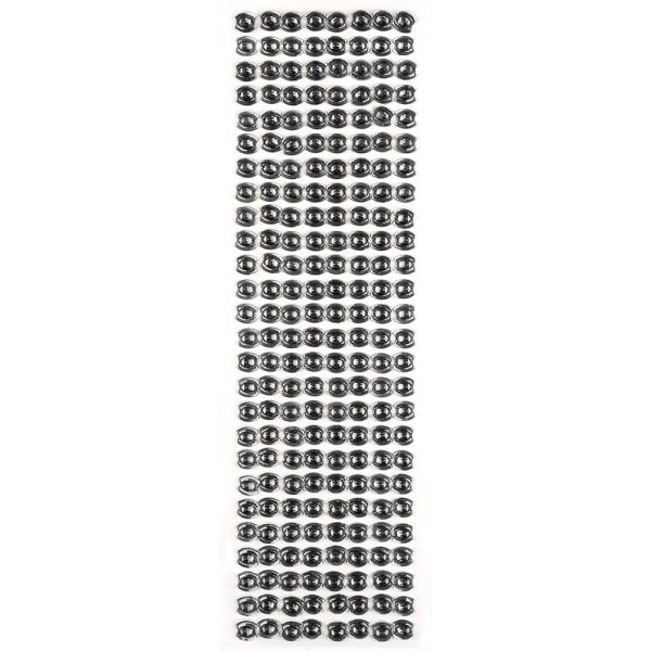 Glitzerstein-Bordüren, selbstklebend, Ornament, silber-grau