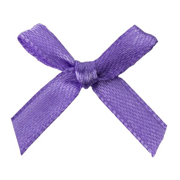 Schleifen, Satin, Bandbreite 7mm, 50 Stück, violett