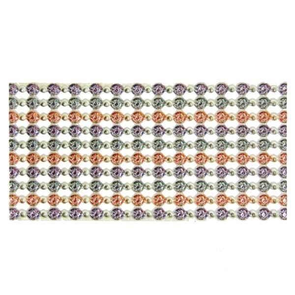 Wachs-Bordüren auf Platte, Perlen-Collier I, 10 Reihen