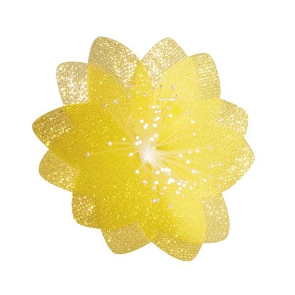 Lichteffekt-Blume, Diamant-Effekt, Ø6cm, gelb, 10er Set