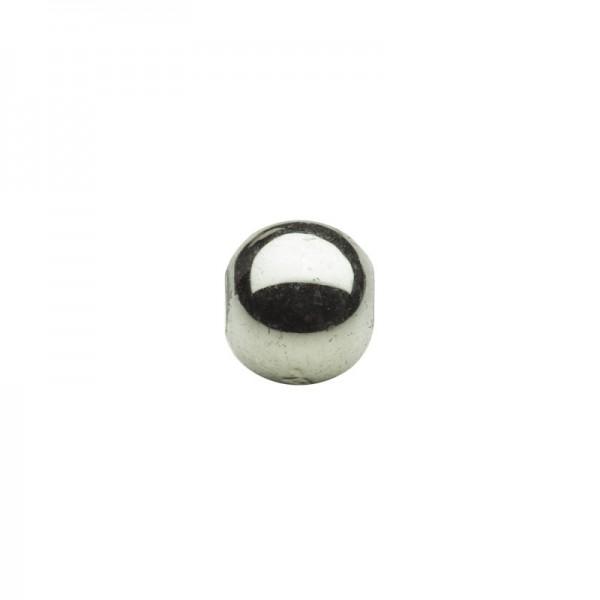Metallic-Perlen, Ø6 mm, 100 Stück, antik-olive