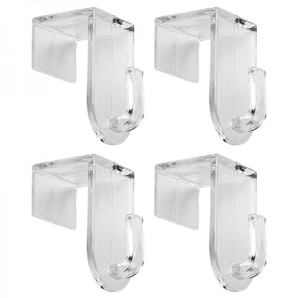 Deko Fenster- und Türhaken, transparent, 4er-Set