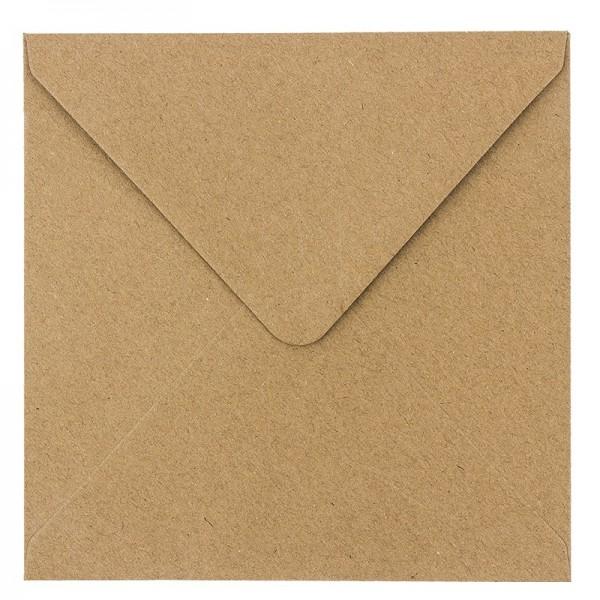 Umschläge, Kraftpapier, 17cm x 17cm, 110 g/m², 100 Stück