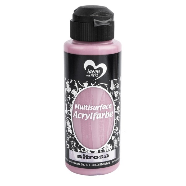 "Acrylfarbe ""Multisurface"", altrosa, 120ml"