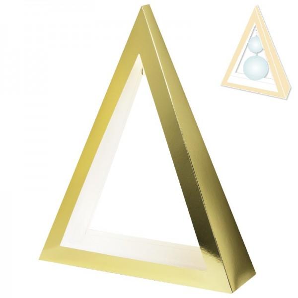 """Kugelständer """"Triangel"""", gold/perlmutt, 33,5 cm hoch"""