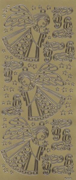 Sticker, Engel, gold