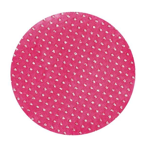Satin-Kreise, Ø6cm, 50 Stück, Glitzer-Perlen, fuchsia