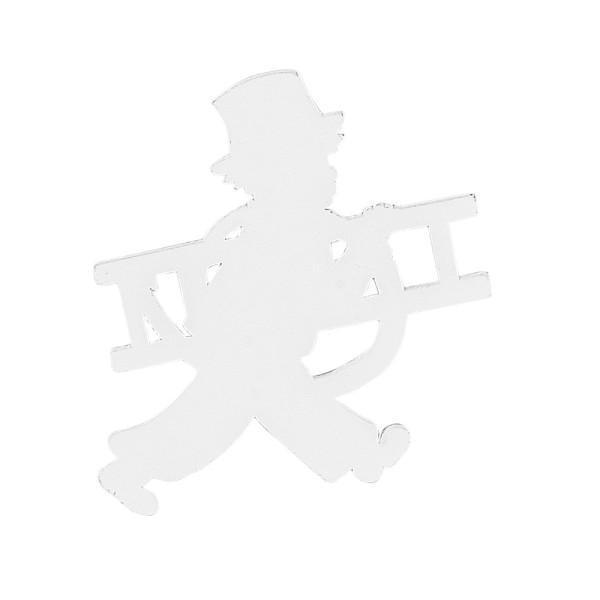 Schornsteinfeger, Holz, 7,6cm x 6,8cm x 0,5cm, weiß, 20 Stück