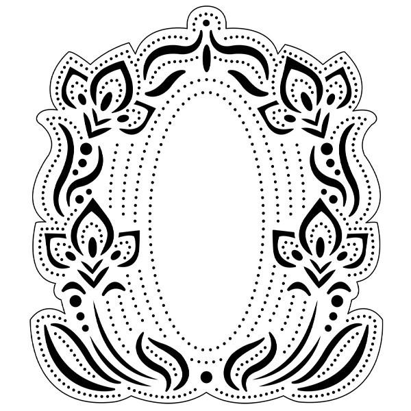 Präge-/Prickelschablone, 13 x 14,4 cm, Design 6
