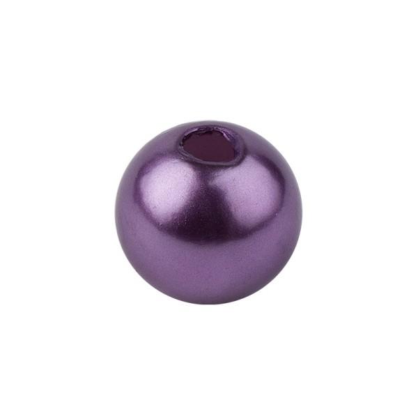 Perlmutt-Perlen, Ø1 cm, 50 Stück, violett