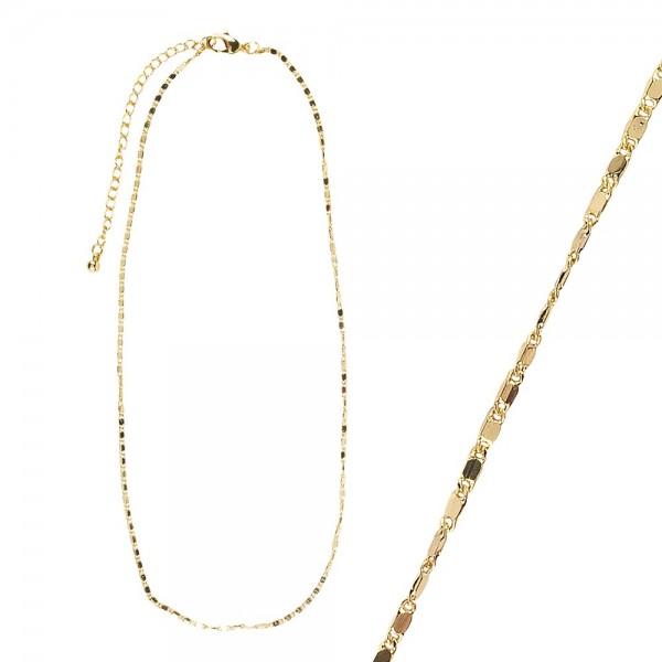 Gliederkette, 42 cm, goldfarben