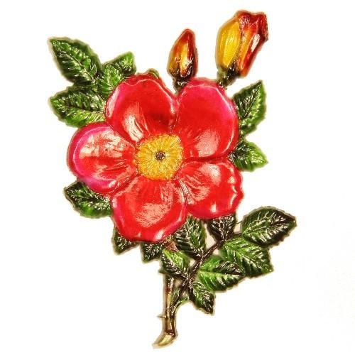 Wachsornament Heckenrose, 9 x 6 cm