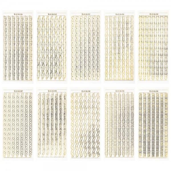 Gravur-Sticker, 70 stilvolle Bordüren