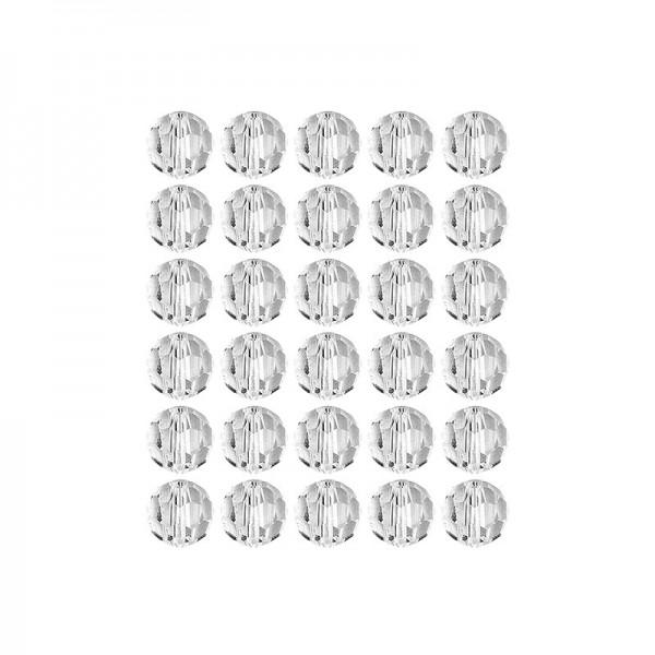 Glaskunst, Perlen, Kugel, Ø 1cm, facettiert, klar, 30 Stück