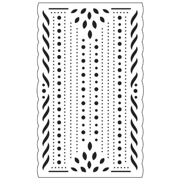 Präge-/Prickelschablone, 9 x 14,5 cm, Design 8