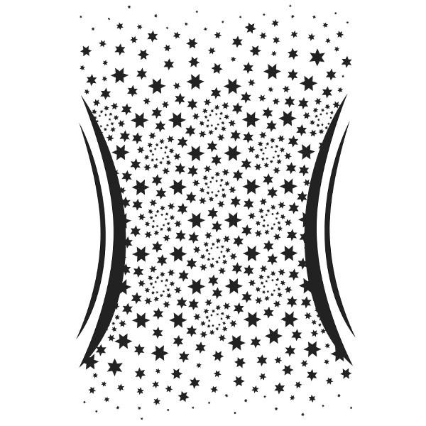 Laser-Kunststoff-Schablone, DIN A3, Schlanke Linie, Sterne