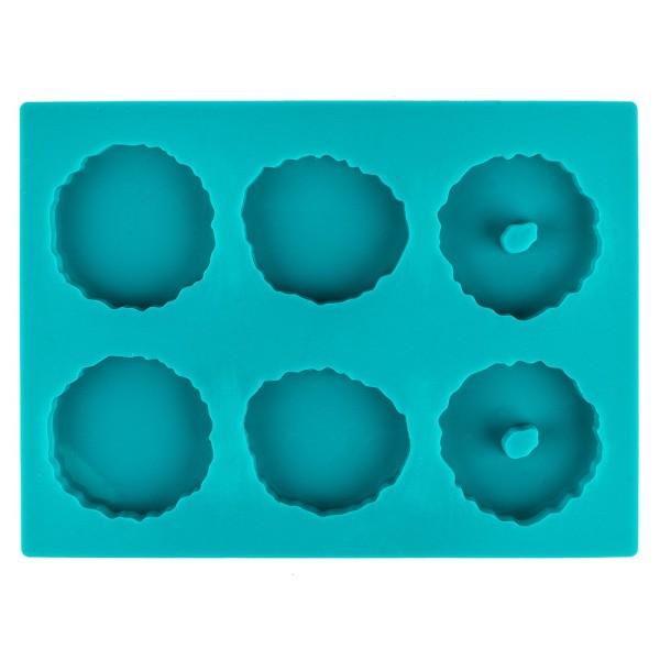 Silikonform Achat 4, unterschiedliche Designs