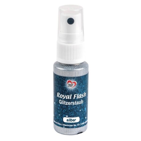 Royal Flash, Glitzerstaub, silber, 25ml