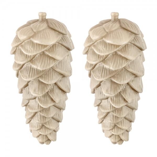 Deko-Tannenzapfen, Rohlinge, Ø 6cm x 12,5cm, 2 Stück