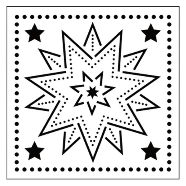 Präge-/Prickelschablone, 12 x 12 cm, Design 3