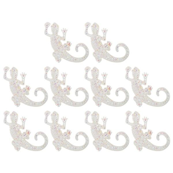 Kristallkunst-Schmucksteine, Gecko 2, 3,5cm x 5cm, transparent, klar, irisierend, 10 Stück