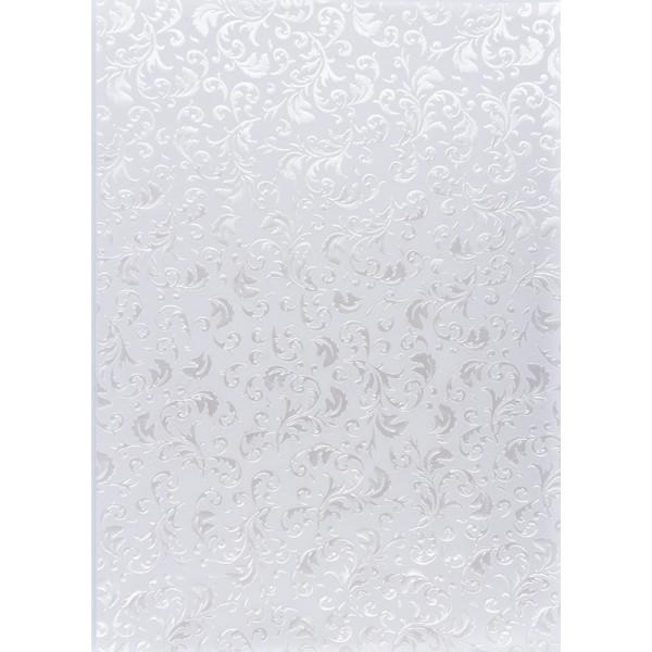 Transparentpapiere, Nova Noblesse 1, mit Top-Prägung & Perlmuttlack, DIN A4, 5 Bogen, weiß