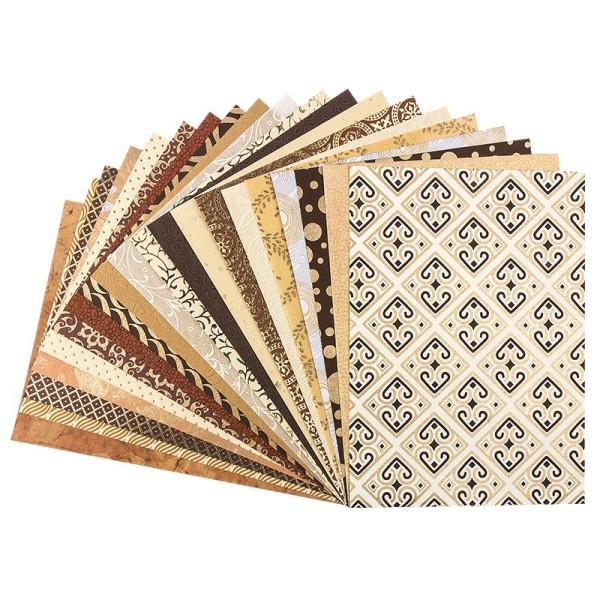 """Naturpapier Colours of India """"Rajasthan"""", DIN A4, gold/braun, 20 Blatt"""