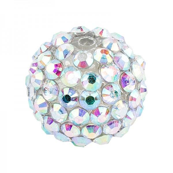 Kristall-Perlen, Ø 10mm, klar-irisierend, 10 Stück