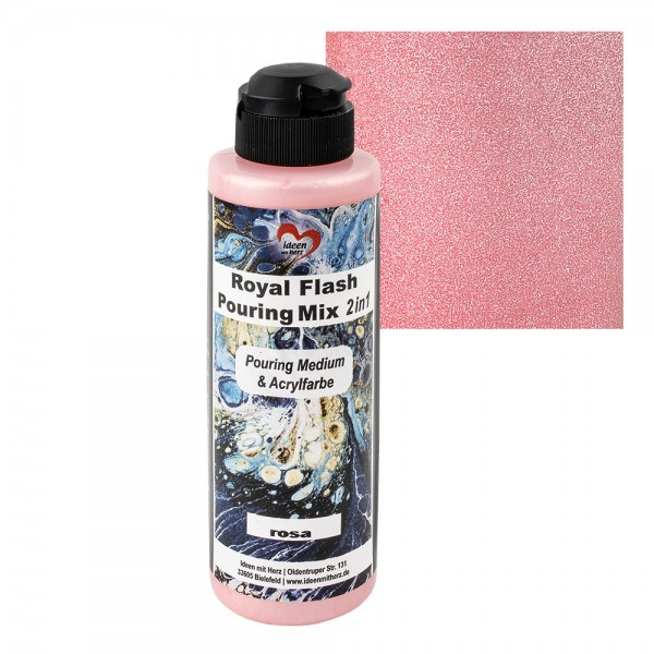 Royal Flash Pouring Mix, 2 in 1, Pouring Medium & Acrylfarbe, rosa, 180ml