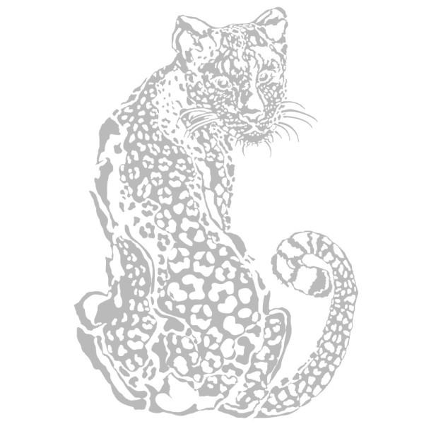 Metallic-Bügeltransfer, Leopard, DIN A4, silber glänzend