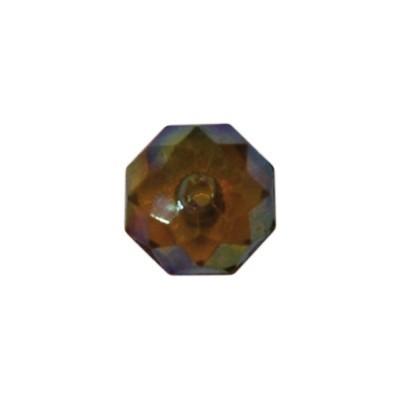 Acryl-Ronden, facettiert, 1 x 1 cm, 50 Stück, bernstein