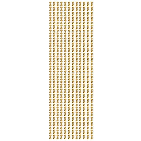 Glitzerstein-Bordüren, selbstklebend, Ø4mm, 29cm, 12 Stk., orange