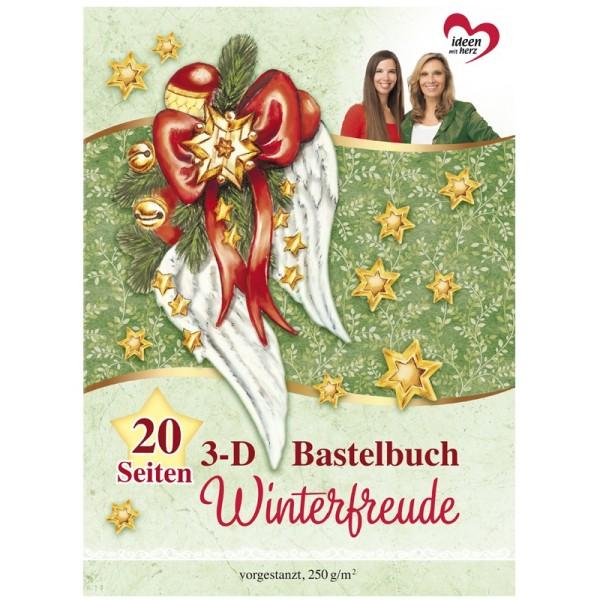Bastelbuch: Winterfreude 3-D Motive und Grußkarten, 20 Stanzbogen, DIN A4