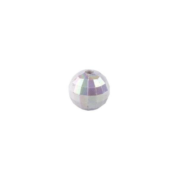 Perlen, facettiert, Ø 4mm, silber-irisierend, 200 Stk.