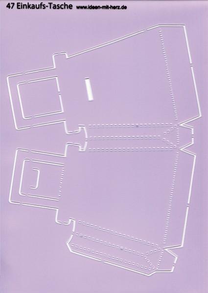 """Design-Schablone Nr. 47 """"Einkaufstasche"""", DIN A4"""