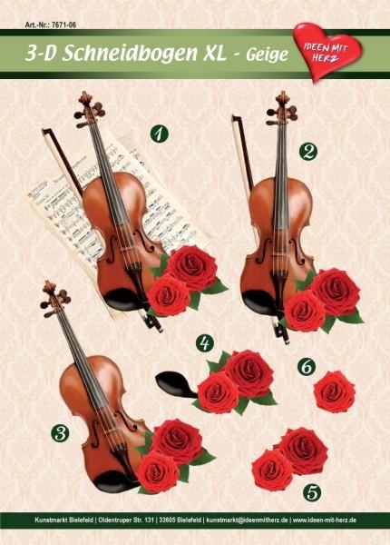3-D Bogen XL-Geige, zum Ausschneiden