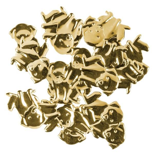 Messing Ornamente, Hund, 20 Stück