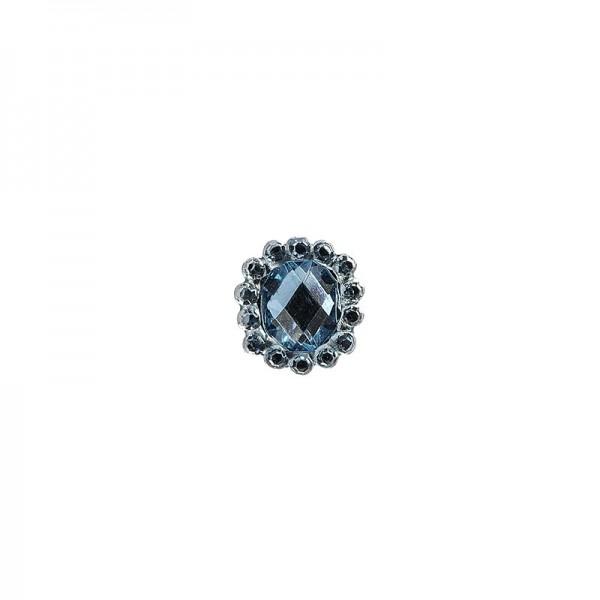 Ornament-Glitzersteine, 50 Stück, Design 9, hellblau