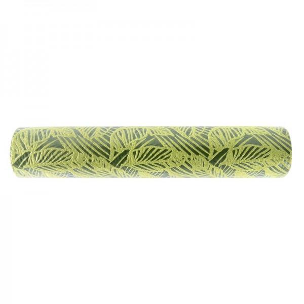 Relief-Vlies Deluxe, Blätter, 30cm breit, 5m lang, olivgrün