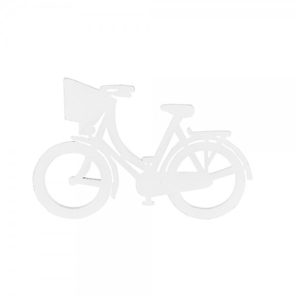 Fahrräder, Holz, 10,5cm x 6,8cm x 0,5cm, weiß, 11 Stück