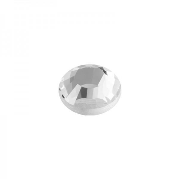 Hot-Fix Glas-Kristalle zum Aufbügeln, Ø2mm, 3000 Stk., transparent