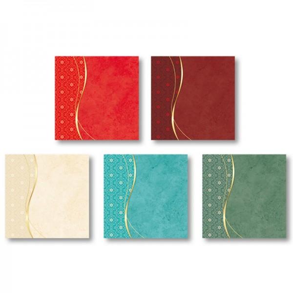 """Motiv-Grußkarten, Schwung """"Festtag"""", 11x11cm, inkl. Umschläge, 10 Stück"""