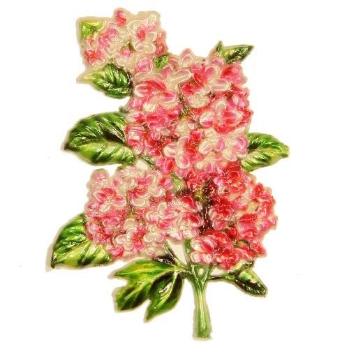 Wachsornament Hortensie, 9 x 6,5 cm