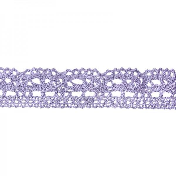 Häkelspitze Design 3, 2,4cm breit, 2m lang, flieder