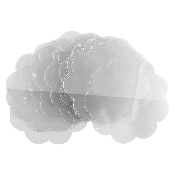 Windradfolien-Scheiben, Blume, 15cm x 15cm, transparent, 500µ, 20 Stück