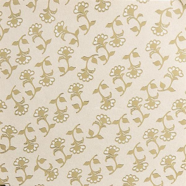 Edel-Faltpapier, Perlmutt, folienveredelt, 10cm, 100Bl, Design 2